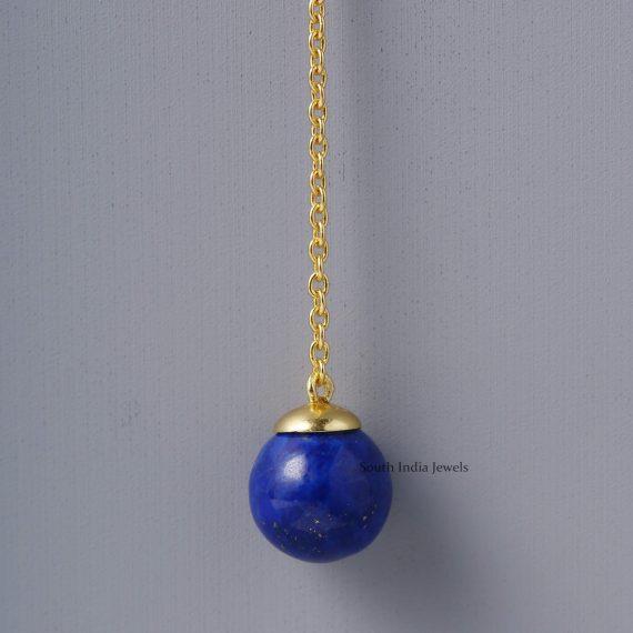 Trendy Lapis Drop Earrings (2)