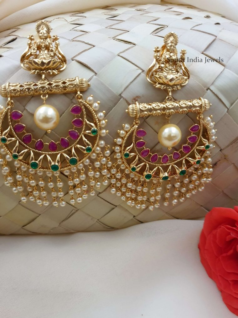 Unique Gold Replica Chandbali Earrings