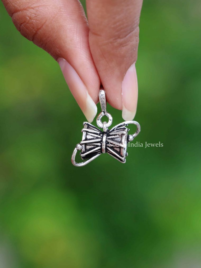925 Sterling Silver Lord Shiva Dumroo Pendant