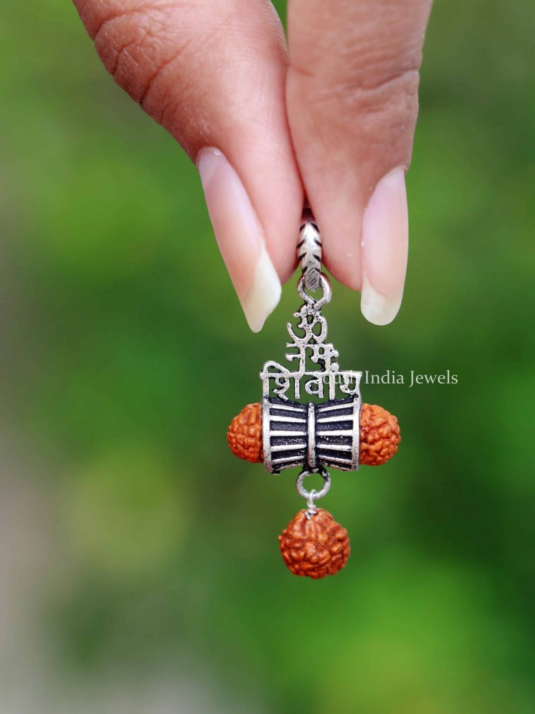 925 sterling silver Om Namah Shivaya pendant