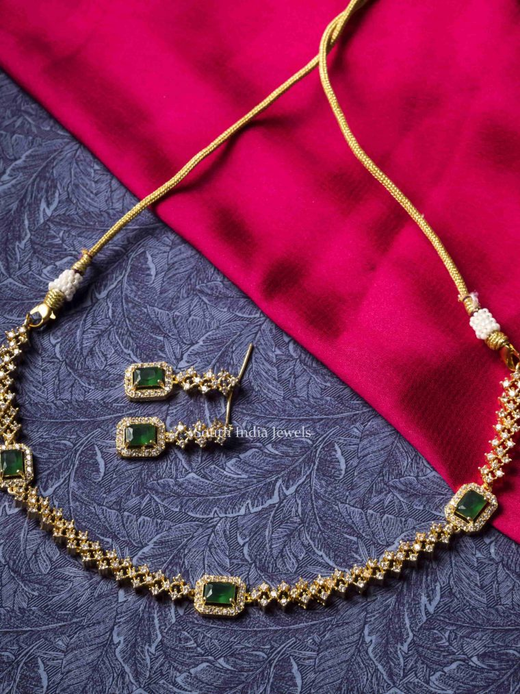 AD & Green Stone Necklace