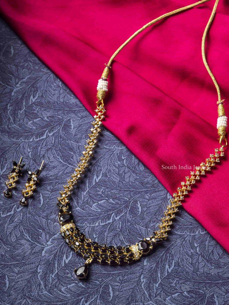Beautiful Black Stones Necklace