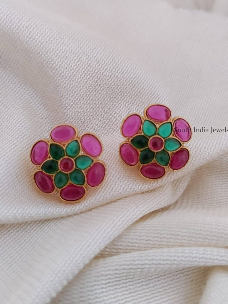 Beautiful Floral Design Earrings