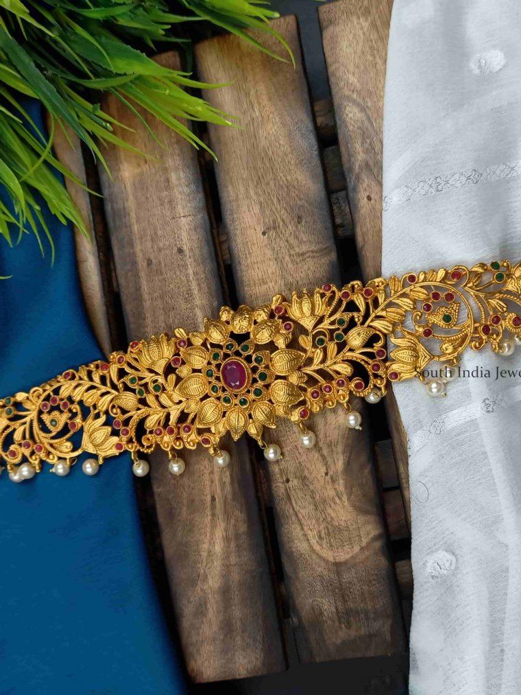 Beautiful Floral Design Hip Chain