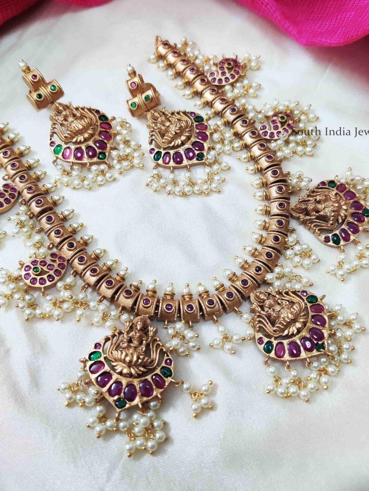 Beautiful Guttapusalu Kemp Stone Necklace (2)