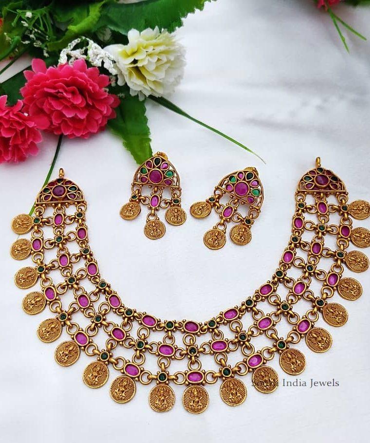 Beautiful Lakshmi Coin Necklace