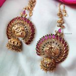 Beautiful Peacock Designer Jhumkas