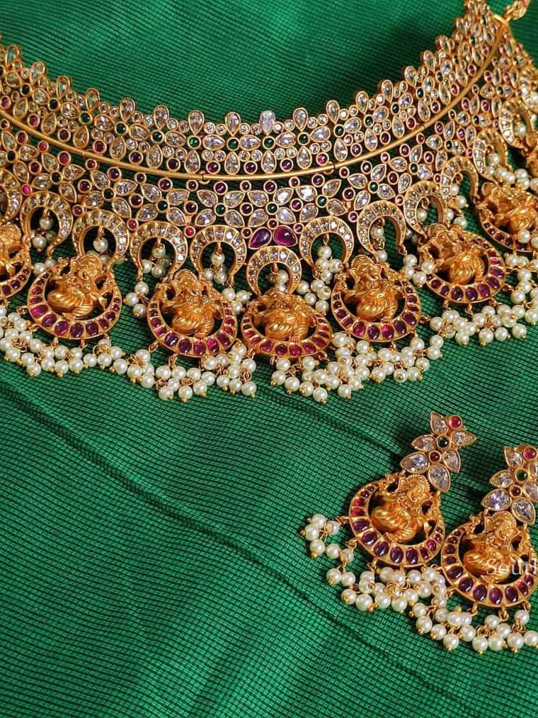 Bridal AD Stones Ganesha Choker