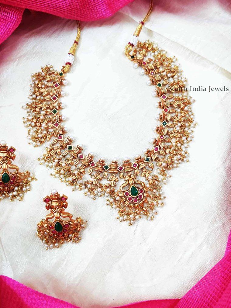 Bridal Guttapusalu Unique Design Necklace