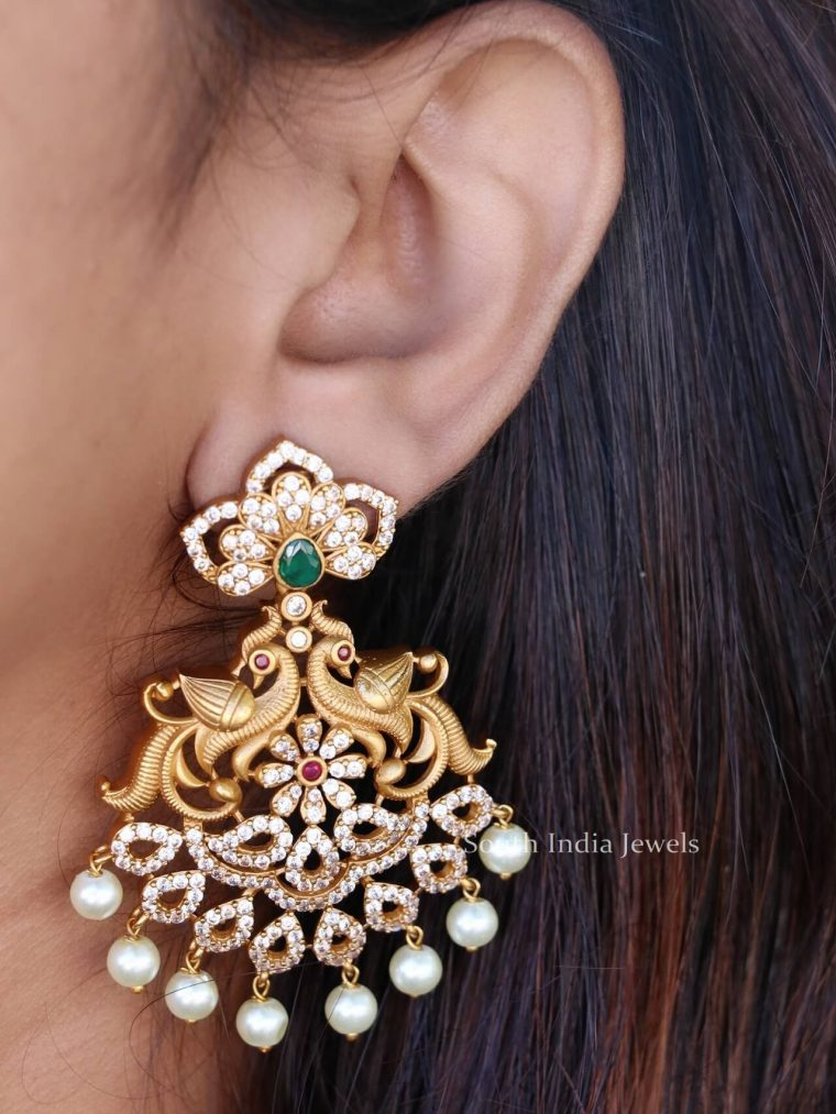 Bridal Peacock Earrings (3)