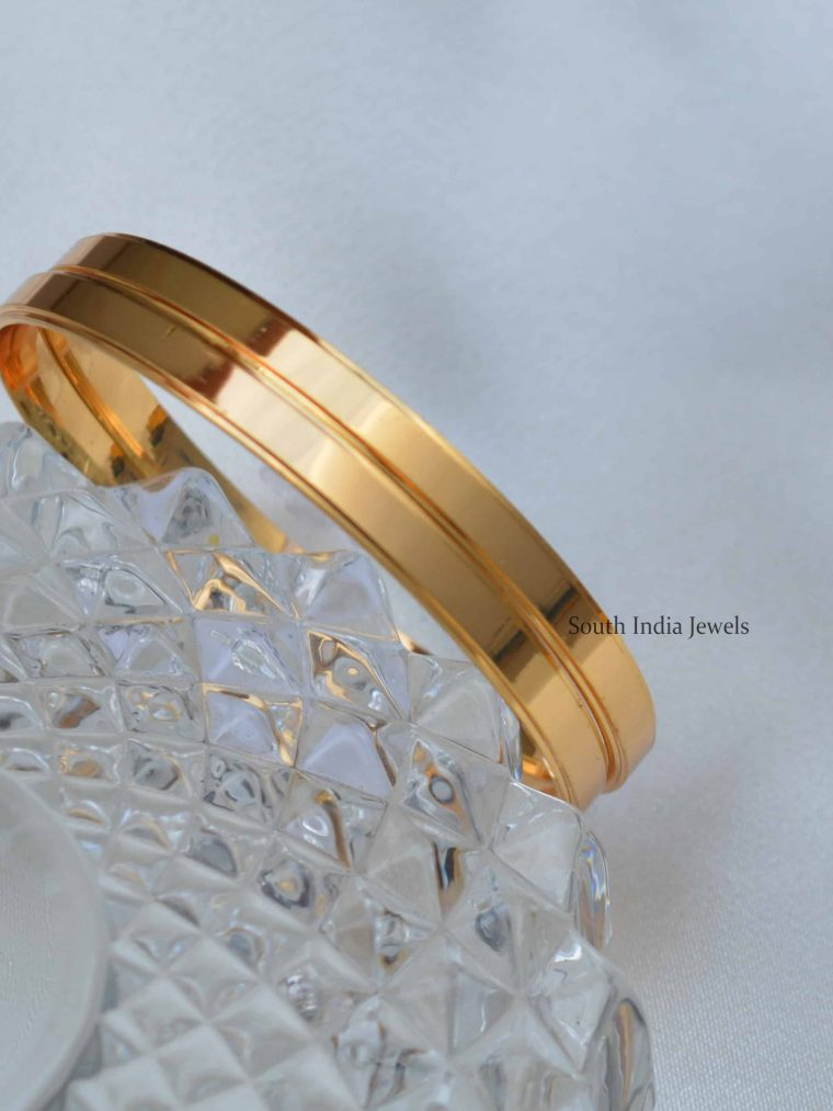 Classic Gold Plated Plain Bangles