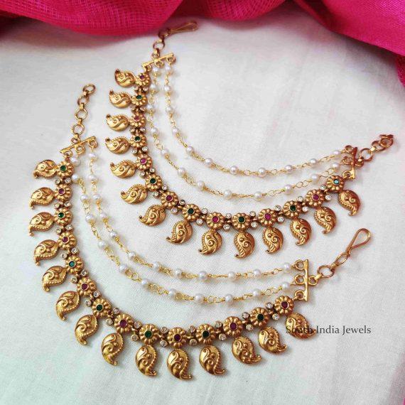 Classic Mango Design Pearls Mattal