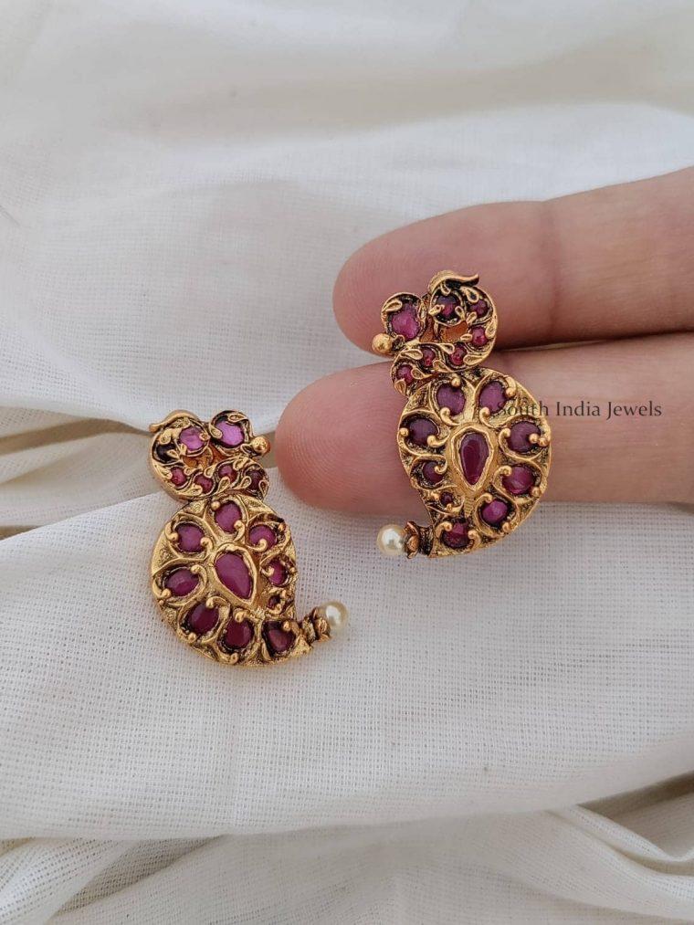 Cute Mango Design Kemp Earrings