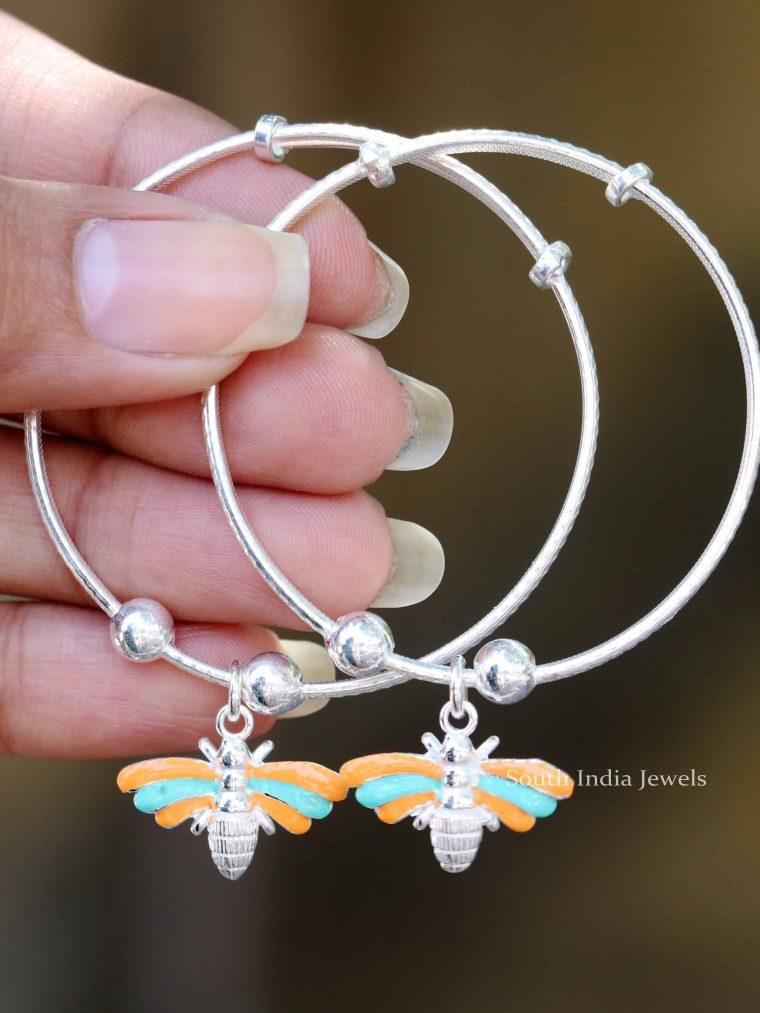 Dragon Fly Design 92.5 Sterling Silver Baby Bracele