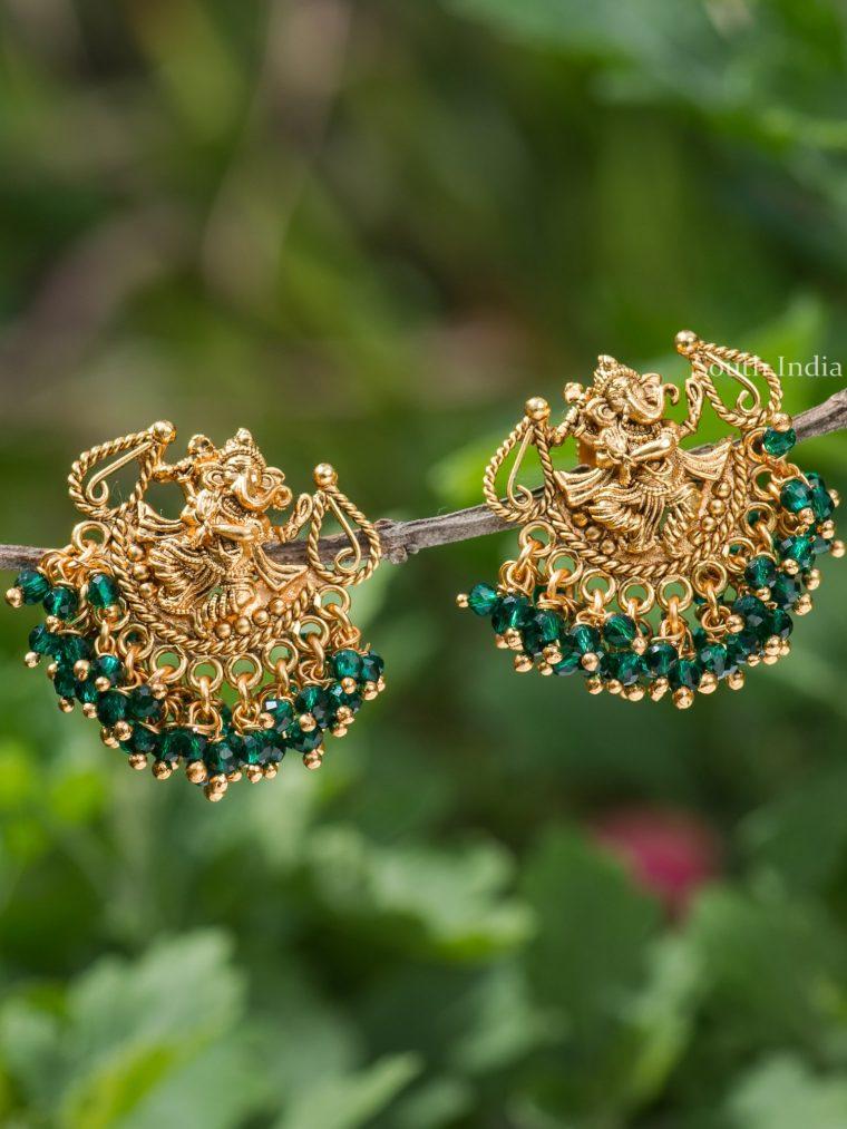 Elegant Dancing Vinayagar Earrings