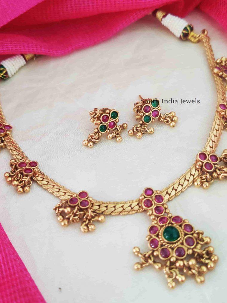 Elegant Kemp Green Attigai Necklace