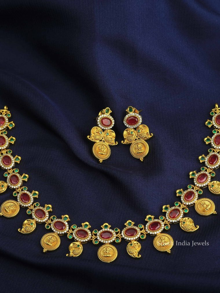 Elegant Lakshmi Coin Necklace