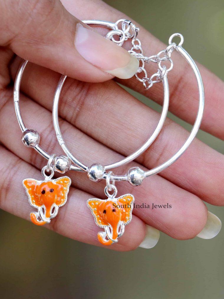 Elephant Design 92.5 Sterling Silver Baby Bracelet