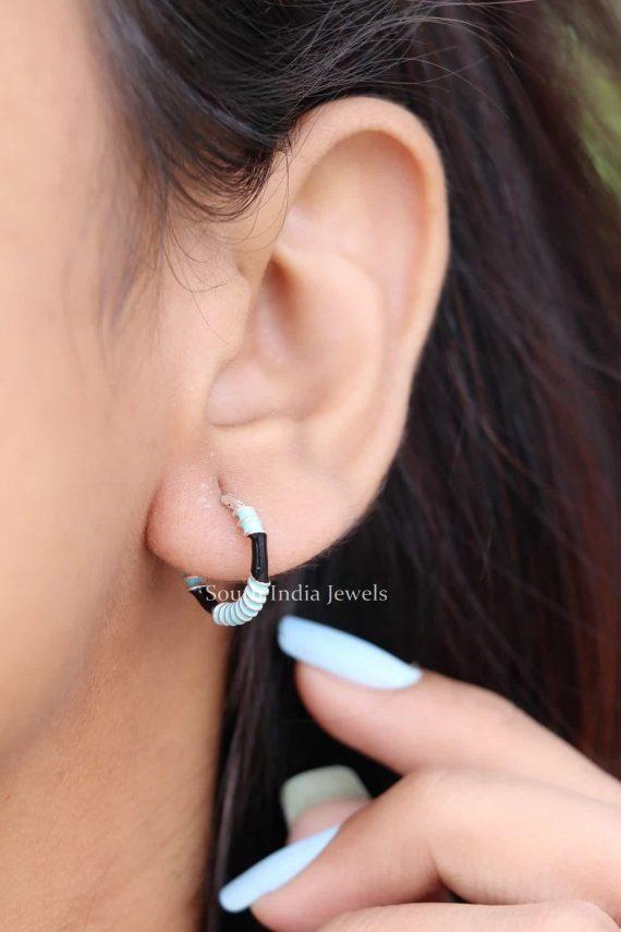 Enamel 925 Sterling Silver Bali Earrings (2)