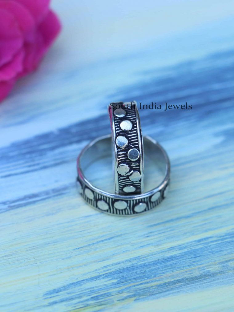 Enamel Sterling Silver Toe Rings
