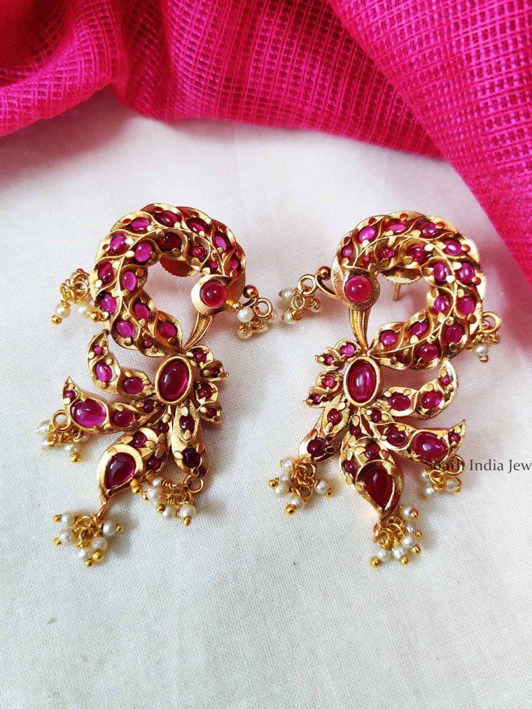 Exquisite Peacock Designer Kemp Earrings