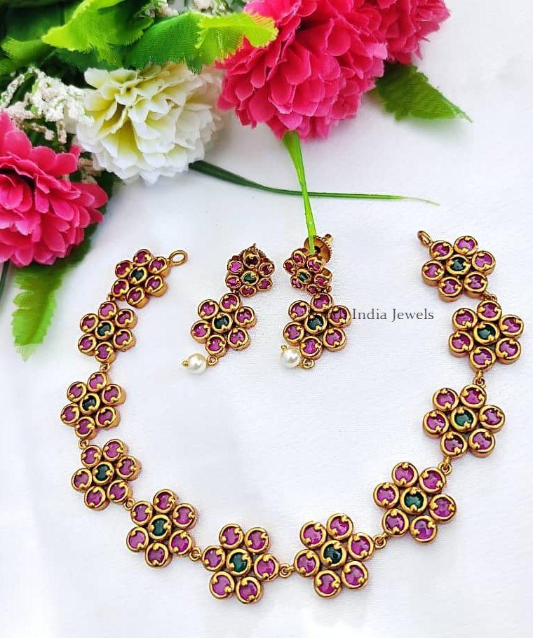 Floral Design Kemp Necklace