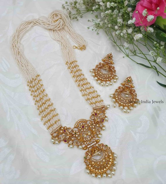 Floral Design Pendant With Pearl Haram
