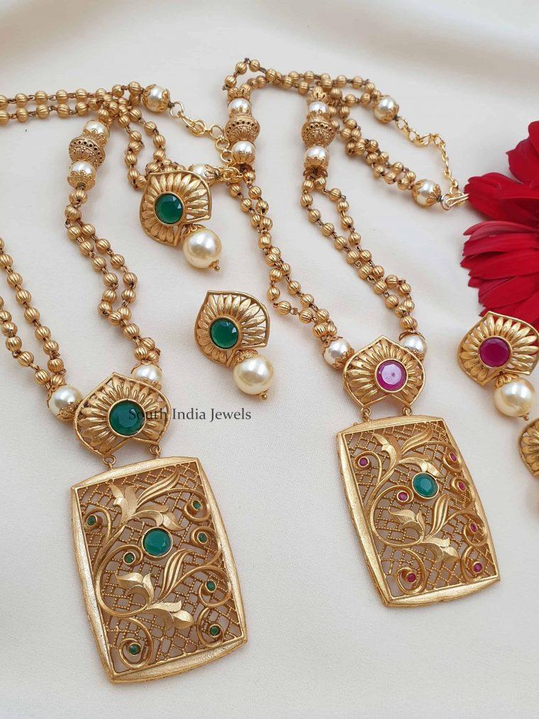 Floral Designer Beads Necklace