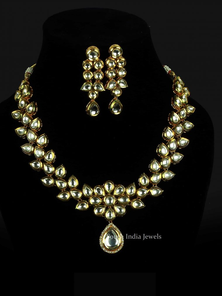 Floral Kundan Stone Necklace