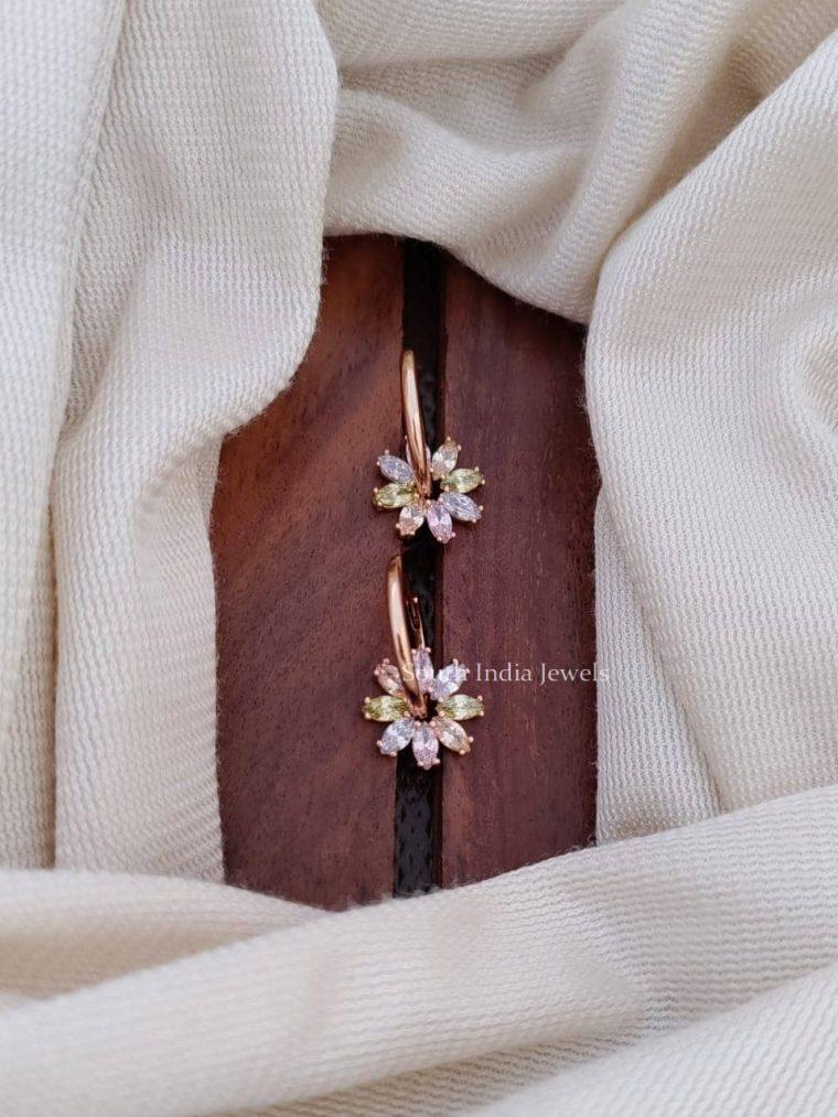 Floral Multi Color Earrings (2)