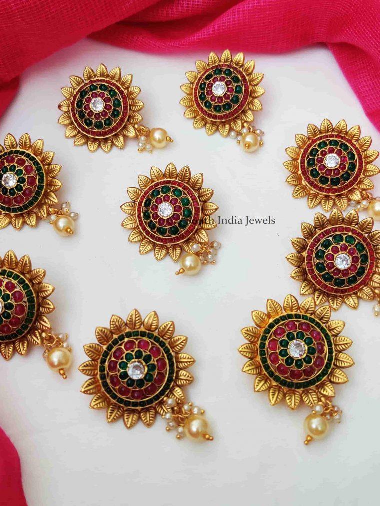 Glamorous Flower Design Jada Billai