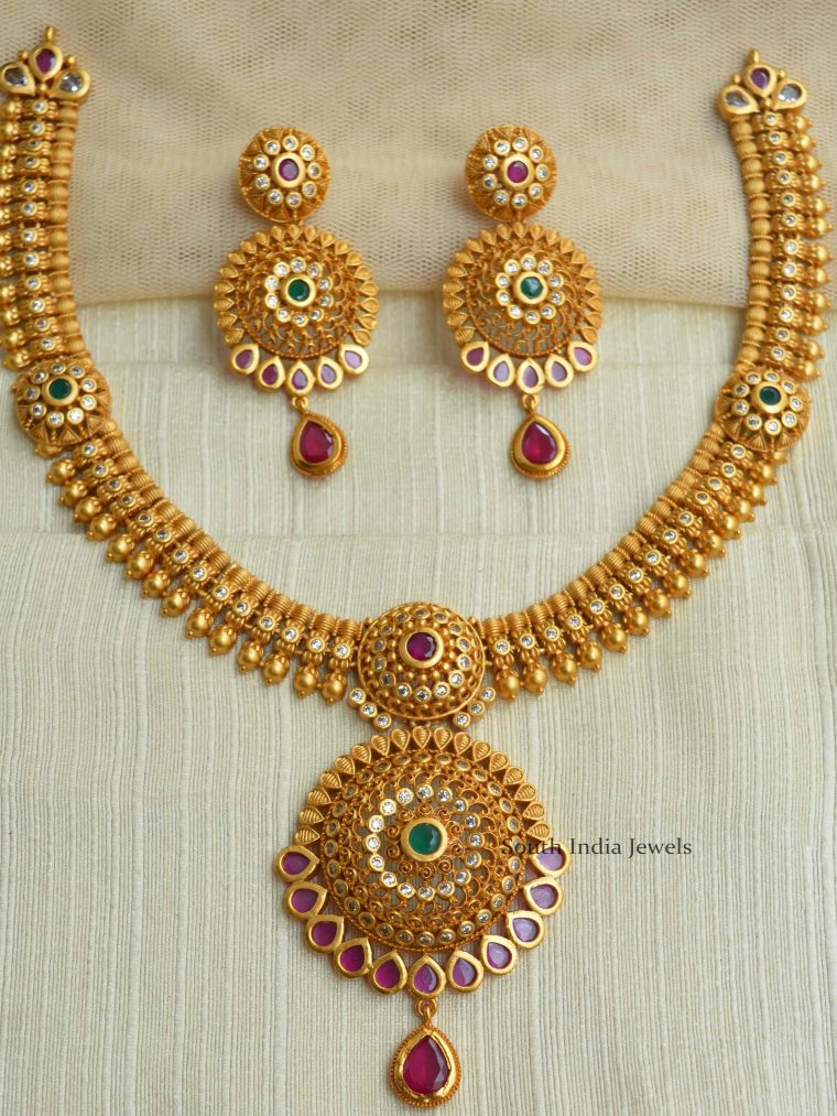 Gold Plated Matte Necklace