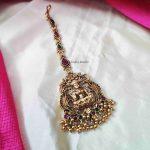 Golden Beads Lakshmi Maang Tikka (2)