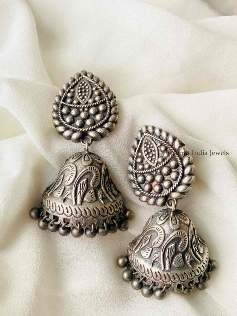 Gorgeous German Silver Jhumkas