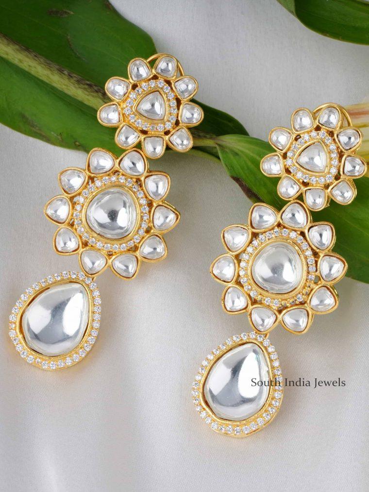 Gorgeous Long Kundan Earrings