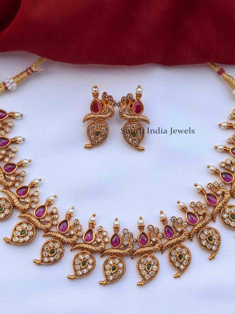 Gorgeous Mango Necklace Set