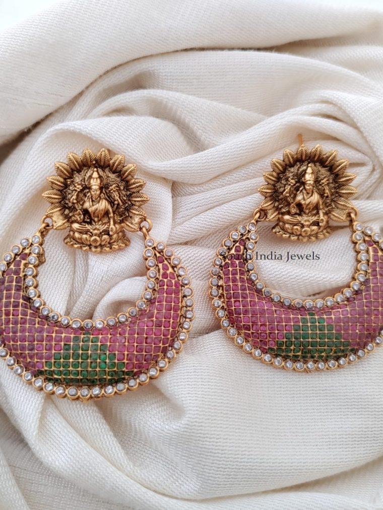 Gorgeous Ram Leela Ruby Emerald Earrings