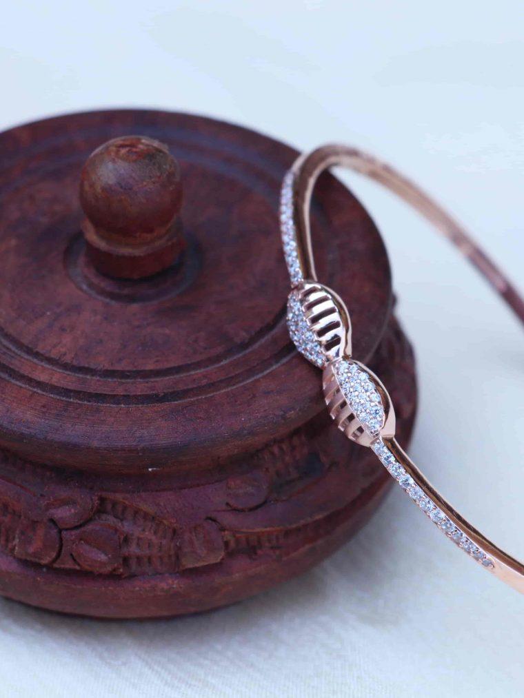Gorgeous Sterling Silver Rose Gold Bracelet