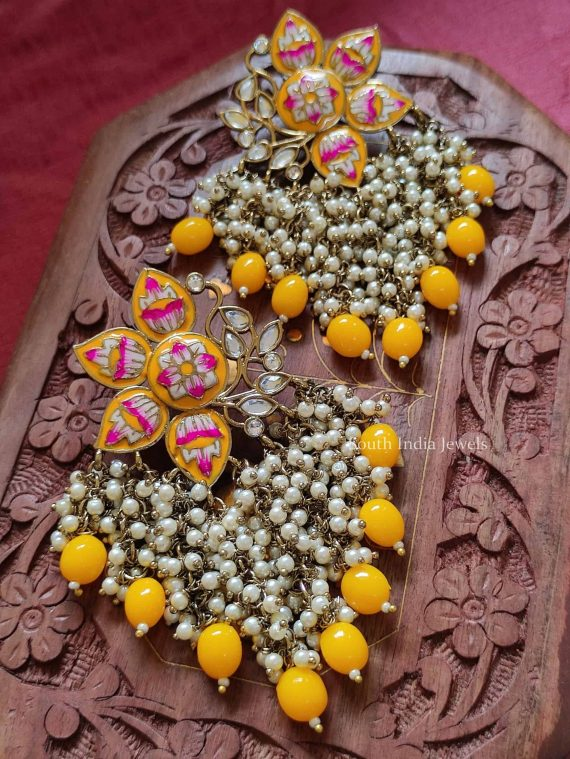 Hand Painted Meenakari Earrings (3)