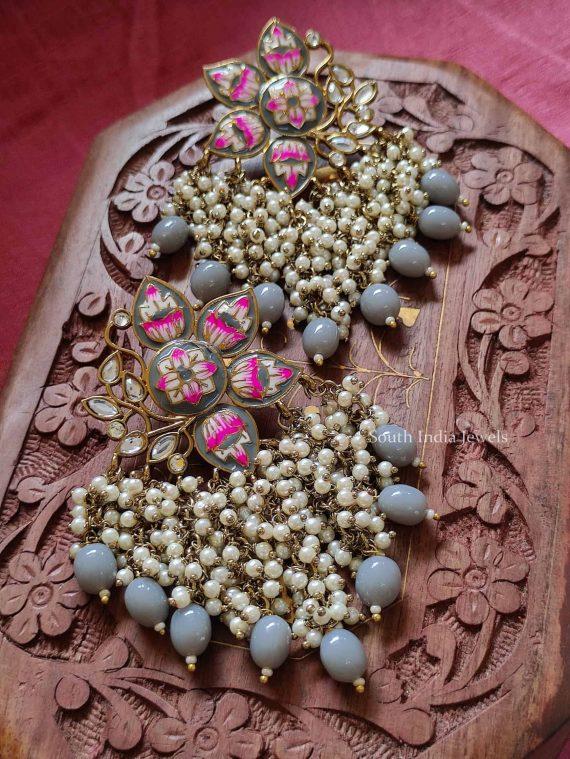 Hand Painted Meenakari Earrings (6)