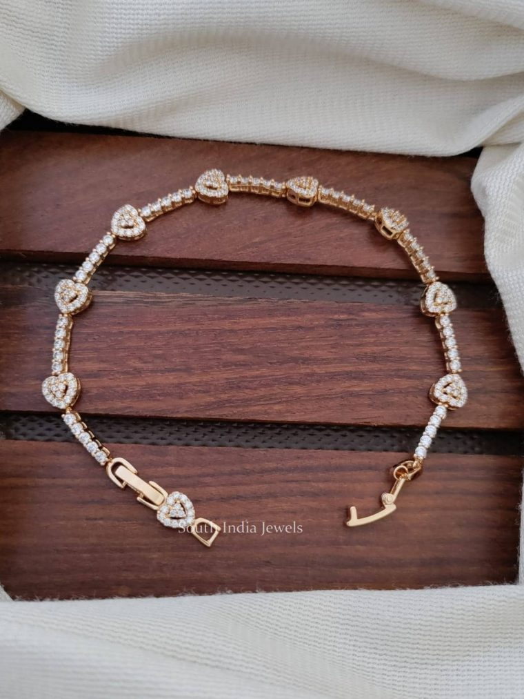 Heart Design CZ Stone Bracelet