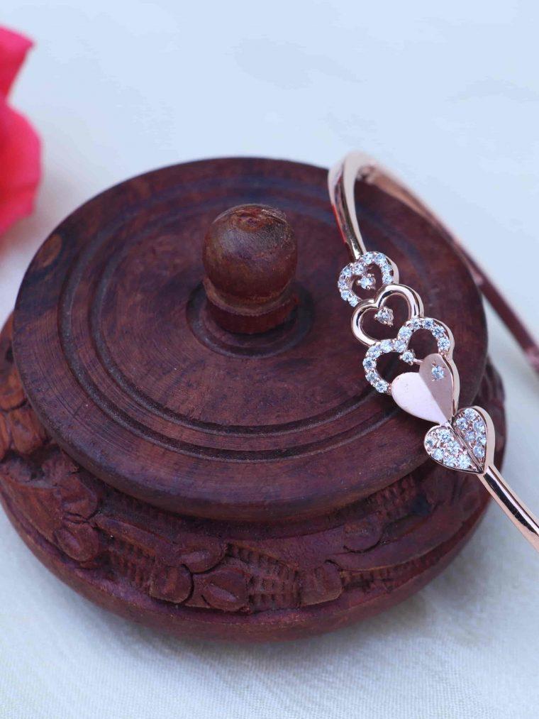 Heart Design Sterling Silver Bracelet