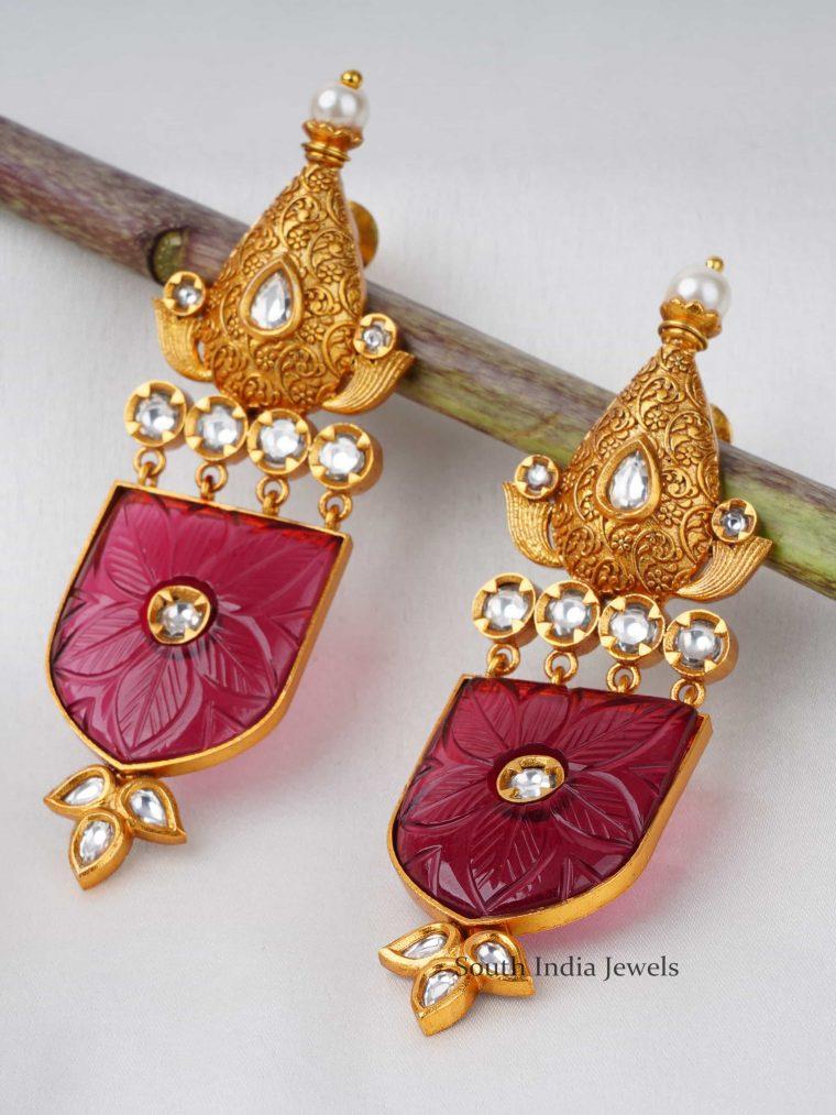 Heavy Stone Kundan Earrings