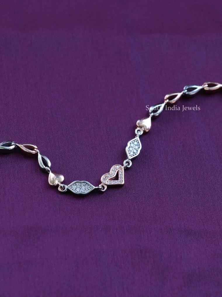 Italian Rose Gold Sterling Silver Bracelet