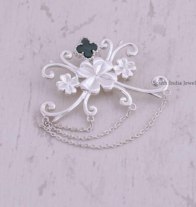 Leaf Clover Design Brooch