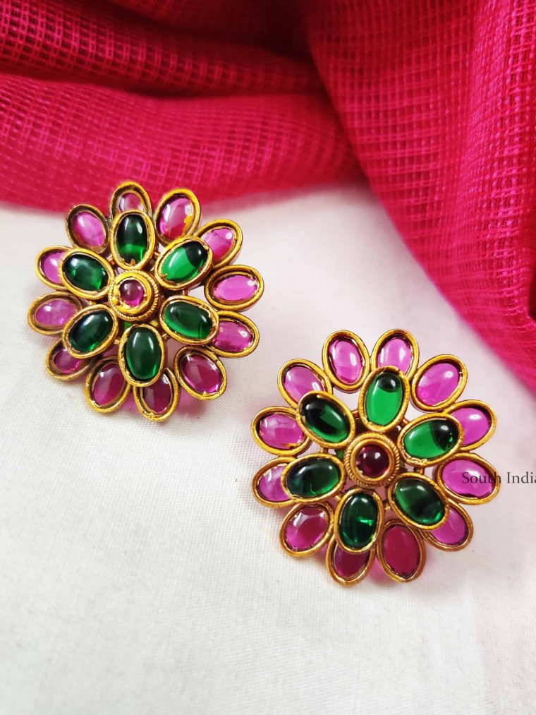 Magnificent Kemp Green Floral Earrings