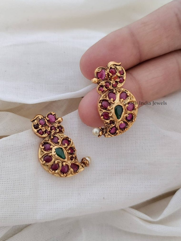 Mango Design Kemp Green Earrings