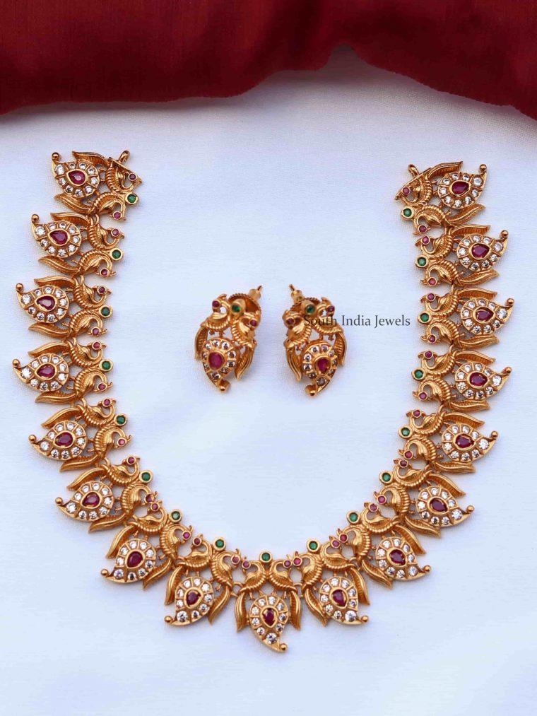 Mango Peacock Design Necklace (3)