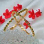 Marvellous Emerald AD Stones Bangles