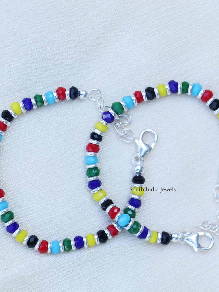 Multi Color Baby Nazariya Sterling Silver Bracelet